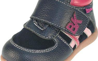 Dívčí kotníčkové boty - tmavě modré