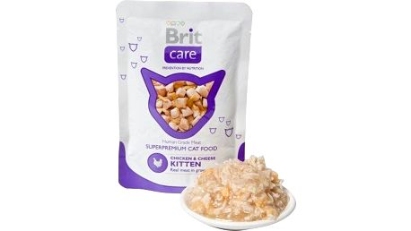 Brit Care Cat kapsička Pouches Chicken & Cheese Kitten 80 g