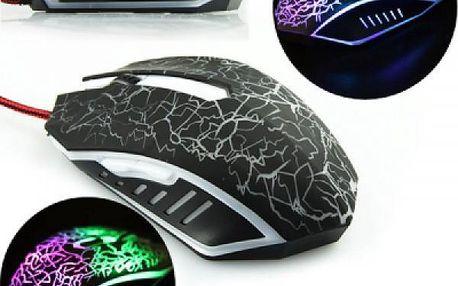 Herní optická myš s LED osvětlením