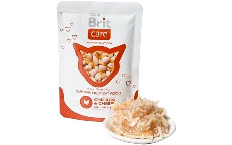 Brit Care Cat kapsička Pouches Chicken & Cheese 80 g