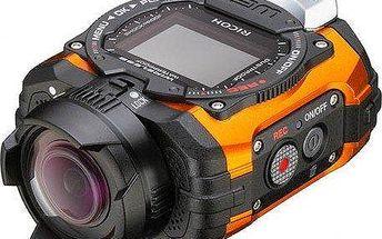 Voděodolná a nárazuvzdorná outdoorová kamera Ricoh WG-M1 Orange