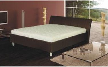 TEMPO KONDELA Diego hnědá 160 x 200 manželská postel, ekokůže