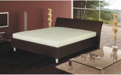 TEMPO KONDELA Diego hnědá 180 x 200 manželská postel, ekokůže