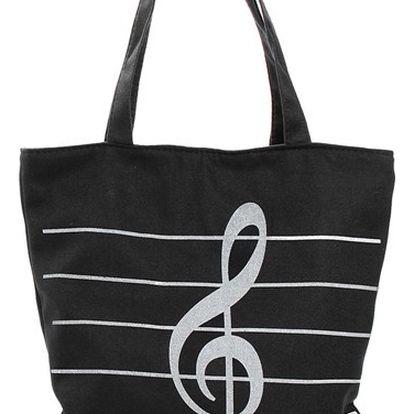 Letní taška přes rameno s houslovým klíčem