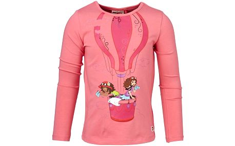 Dívčí tričko s balónem TANISHA 607 - růžové