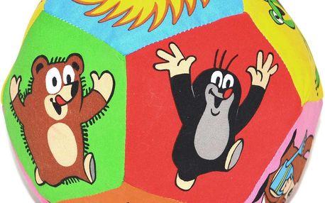 Textilní míček s chrastítkem Krteček