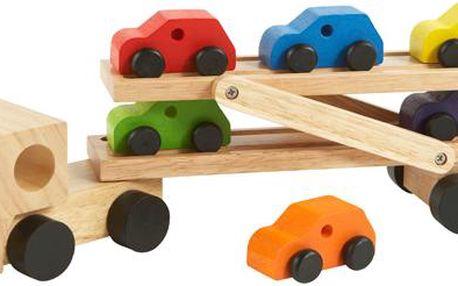 Dětská dřevěná hračka převoz aut