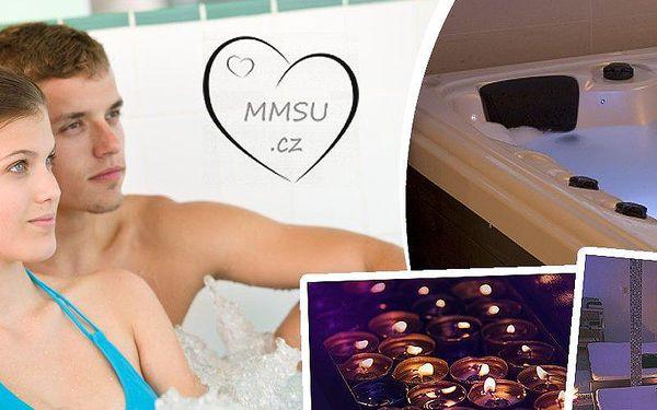 Dvě hodiny relaxace pro dvě osoby v privátní, romantické vířivce a masáž nebo šampaňské zdarma!