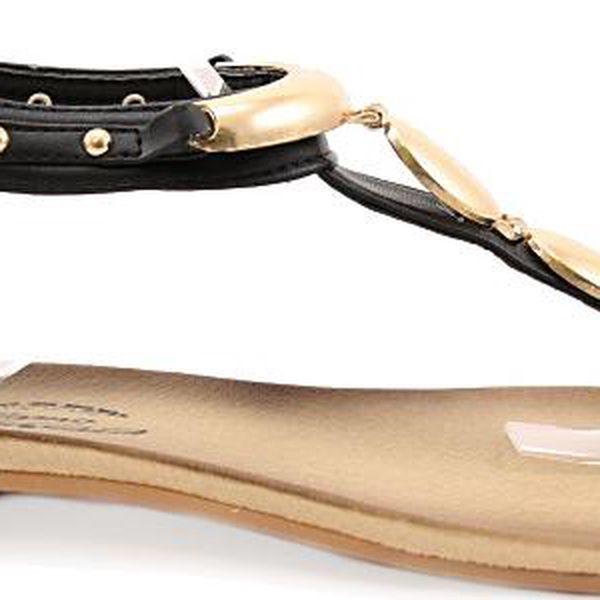 Černé sandálky - žabky 6046-1B 38
