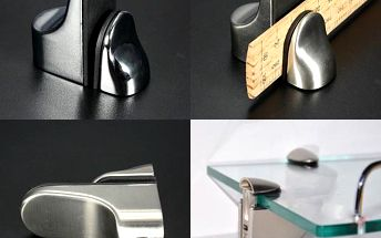 Kovové úchytky na poličky - matné či lesklé