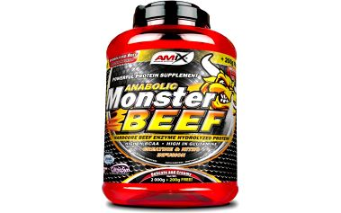 Amix Anabolic Monster Beef - vanilka & limetka, 2.2 kg