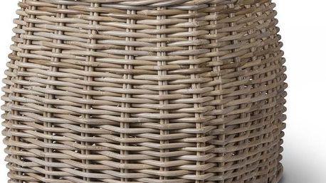 Ratanový košík na dřevo Garden