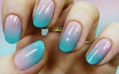 Ombré – manikúra a zdobení plynulým přechodem barev