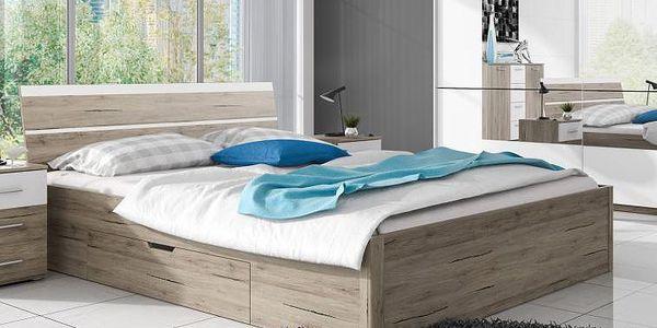 Manželská postel Dione s úložným prostorem