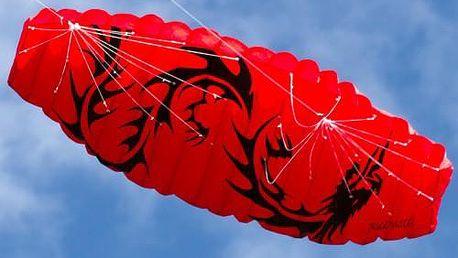 Létající drak - kite 200 x 70 cm červený