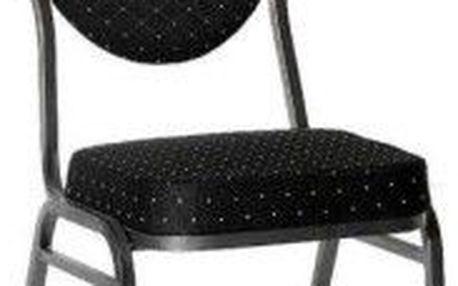 Kvalitní židle kovová Monza - černá