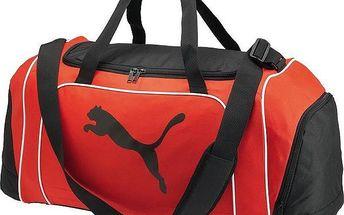 PUMA Team Cat Medium 48l red sportovní taška