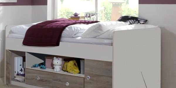 Dětská postel Jette - 360467 (alpská bílá / dub montana)