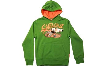 mikina SANTA CRUZ - Youth Bone Slasher Mint Green (MINT GREEN) velikost: 6-8