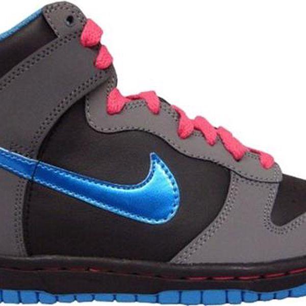 dětské boty NIKE - Dunk High (Gs) Black/Vibrant Blue-Cl Gry-Sprk (001) velikost: 5Y