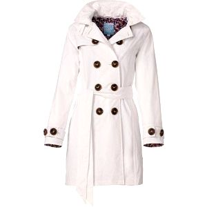 Dámský kabát Happy Rainy Days, bílý