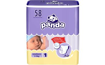 Bella PANDA Newborn (2-5 kg) 58ks - jednorázové pleny
