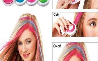 Křídy na obarvení vlasů - 4 ks