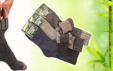 6 párů antibakteriálních thermo ponožek z95% přírodního bambusu a bavlny. Zdravotní lem bez gumiček, antibakteriální vlastnosti.