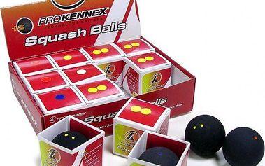 PROKENNEX Squashový míč žlutá tečka