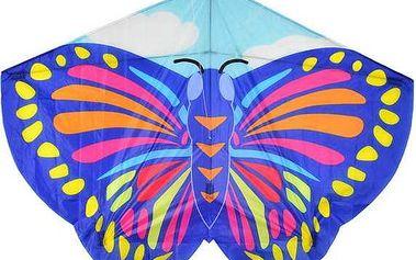 Létající dětský drak Motýl modrý
