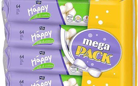 BELLA HAPPY čistící ubrousky hedvábí a bavlna 4x64 ks (mega pack)