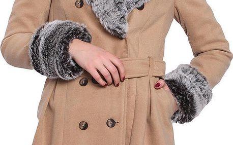Dámský kabát Vera Ravenna, pískově hnědý