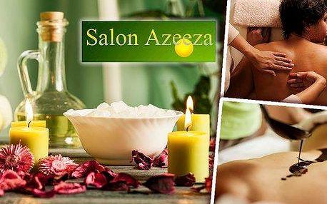 60 minut dokonalé relaxace! Zajděte si do teplického salonu Azeeza na havajskou nebo čokoládovou masáž a nechte starosti, únavu i stres odplout za zvuků příjemné hudby. Vyberte si tu pravou masáž pro Vás a dopřejte si luxusní hýčkání a relaxaci!