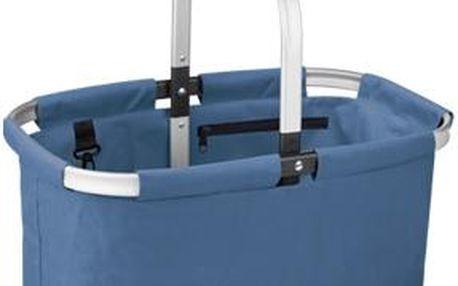 Nákupní košík skládací SHOP!, barevný mix, modrá