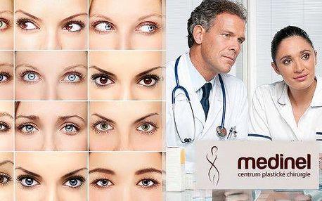 Plzeň - Plastika obou víček (horních nebo spodních) na jednom oku na klinice Medinel!Starat se o vás bude renomovanýplastický chirurg MUDr. Bouda!Osvěžte svůj pohled aomládněte až o 10 let!