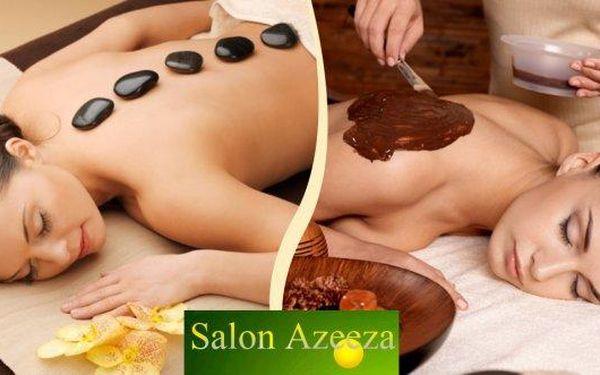 Čokoládová masáž nebo masáž lávovými kameny v salonu Azeeza v Mostě! Dopřejte svému tělu i mysli fantastický 60-minutový relax. Odpočiňte si a utečte od shonu všedních dní, svěřte se do rukou profesionálů a vychutnejte si nepřekonatelný zážitek.