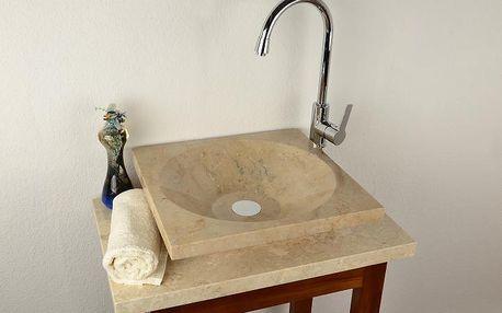 Kamenné umyvadlo - leštěný mramor SALERNO
