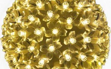 Vánoční dekorace - LED světelná koule - teple bílá