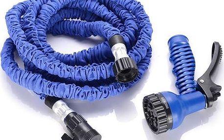 Flexibilní zahradní hadice s hlavicí na hadici - modrá barva