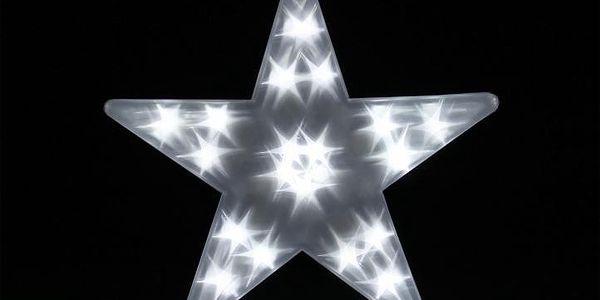 Vánoční dekorace - Světelná hvězda - 20 LED, 35 cm2