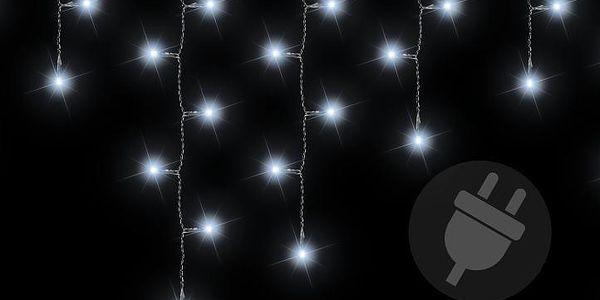 Vánoční světelný déšť 5 m - studená bílá, 144 diod
