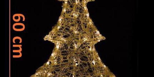 Vánoční dekorace - Zimní stromek - 60 cm teple bílá