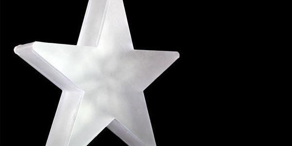 Vánoční dekorace - Světelná hvězda - 20 LED, 35 cm5