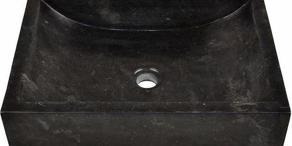 Kamenné umyvadlo - leštěný mramor černé NOVARA3