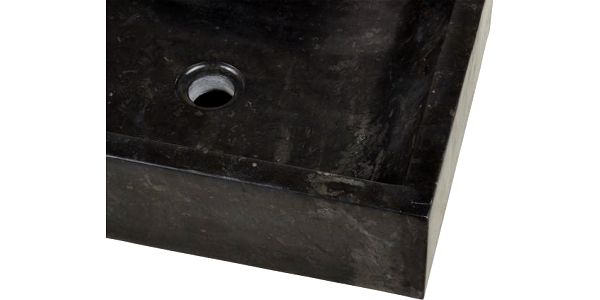 Kamenné umyvadlo - leštěný mramor černé NOVARA4