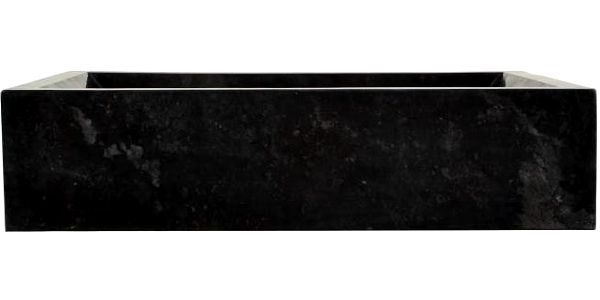 Kamenné umyvadlo - leštěný mramor černé NOVARA5
