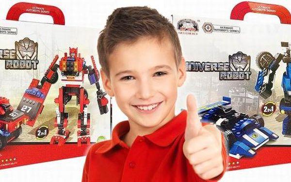Universe robot 2v1 - jedinečná hračka ve stylu Transformers, která nesmí chybět v pokojíčku žádného kluka! Pořiďte svým malým bojovníkům perfektní dárek - kombinaci auta a robota! V dostání ve dvou barevných provedeních - v červené a modré.