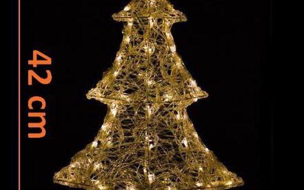 Vánoční dekorace - Zimní stromek - 42 cm teple bílá