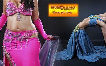 Chcete tančit jako princezna z Orientu? Kurz orientálního tance pro začátečnice v brněnském studiu Slunce - uvolňuje svaly, zlepšuje ladnost pohybů..Vhodné i jako originální dárek.