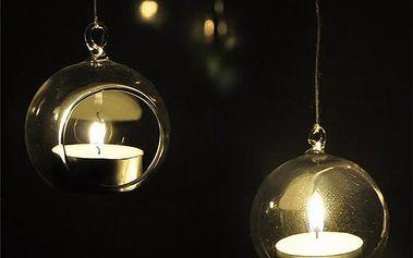 Závěsný svícen ve tvaru koule